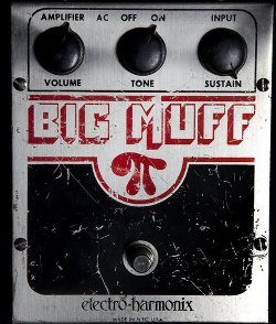 Big Muff distortion pedal for rock music