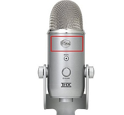 Front of the USB Yeti microphone