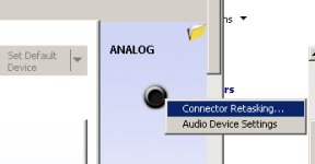 Connector retasking in Windows 7 sound