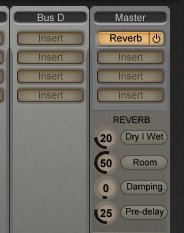 Reverb on the master output