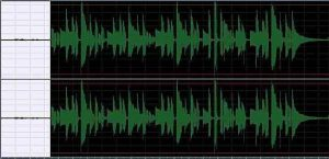 Picture of audio wave