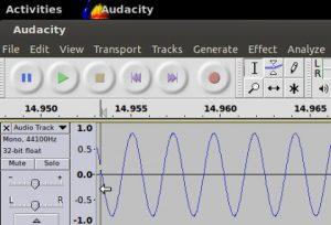 Sine wave tone 400Hz