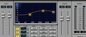 Parametric equalizer screenshot