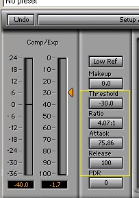 Fat kick drum compression settings