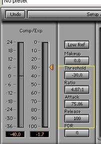 Fat kick drum compression settings