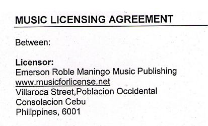 Indemnification Clauses and Music Licensing Agreement Example – Sample Software License Agreement Template