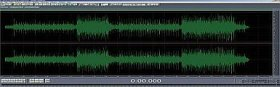 Unmastered audio waveform
