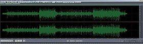 Unmastered audio waveform