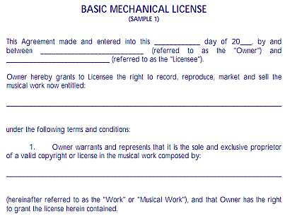Page  What Is A Mechanical License Agreement Or Music