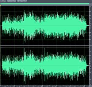 Sample photo of the audio mixdown after mixing process