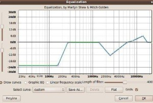 parametric equalizer for background vocal settings