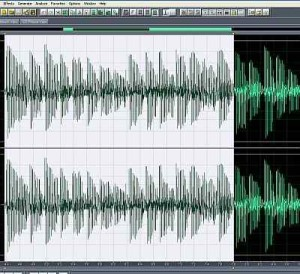 Selected audio passage for pitch correction