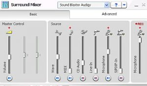 sound card mixer settings