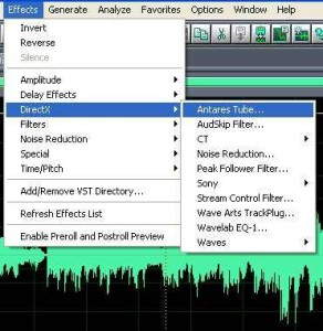 DirectX plugin in Adobe Audition