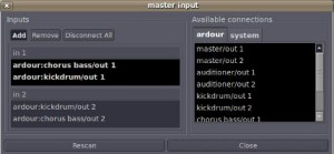 master input channels