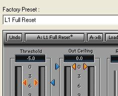 L1 ultramaximizer mastering settings