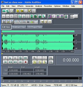 Edit view in Adobe Audition