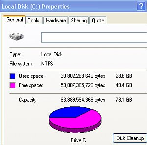 Optimal disk space usage for computer recording