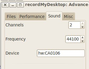 Sound card device configuration