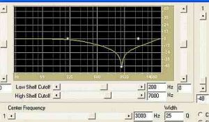 3000Hz notch filter sweep