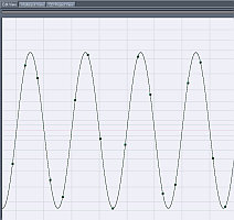 generated sine wave 10Khz