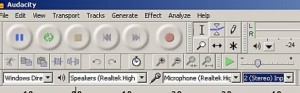 Audacity configuration when recording in netbook