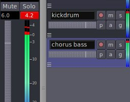 Example screenshot of digital audio clipping in software