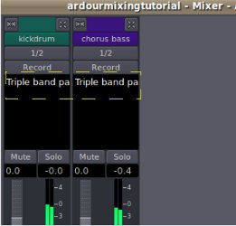 plugin added to the mixer