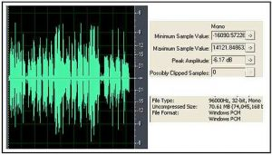 Correct vocal recording waveform