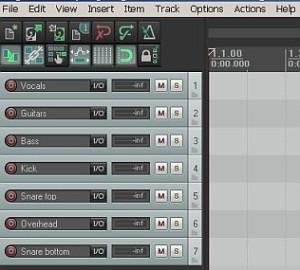 Reaper multitrack recording project