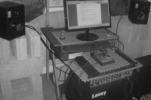 complete setup BX5a and Laney AH200