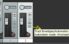 volume automation controls