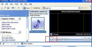 Windows movie maker test audio file