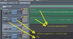 multitrack non destructive editing
