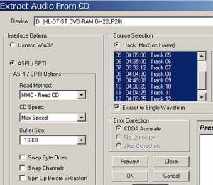CD extract options