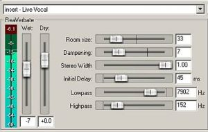 Live vocal insert reverb plugin