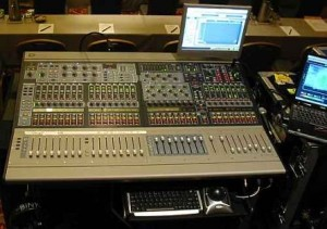 Digidesign audio mixing console