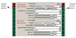 Preamp model settings on Guitar