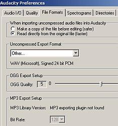 Audacity file formats