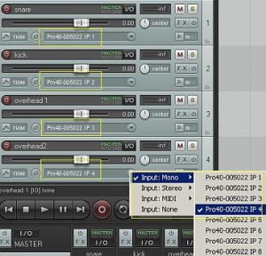 Reaper multi-channel recording