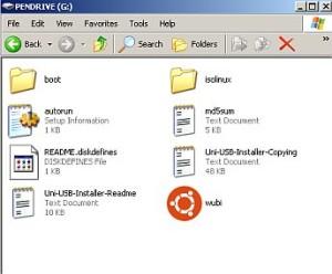 bootable USB installer
