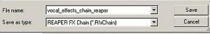 Saving FX chain with a filename