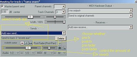 Reaper Aux Send: Setting Reverb & Parallel Compression