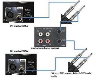 Saffire Pro40 to BX5a connection