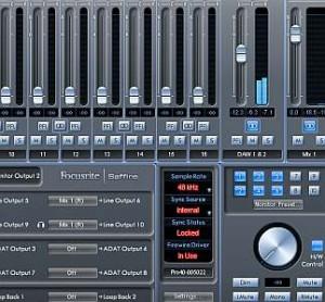 Saffire Pro 40 mix control