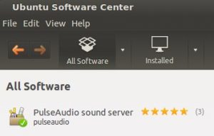 Installed PulseAudio